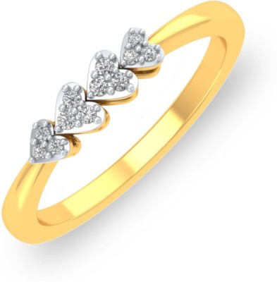 P.N.Gadgil Jewellers Four Hearts 18kt Diamond Yellow Gold ring(Yellow Gold Plated) at flipkart