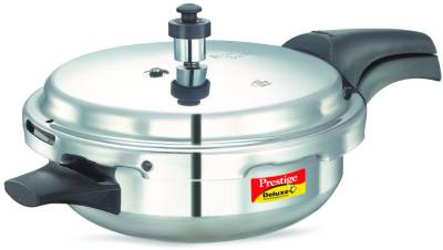Prestige-Deluxe-Plus-Junior-Aluminium-4-L-Pressure-Cooker-(Induction-Bottom,-Outer-Lid)