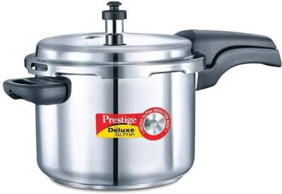 Deluxe-Alpha-Stainless-Steel-6.5-L-Pressure-Cooker-(Induction-Bottom,-Outer-Lid)