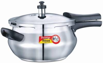 Deluxe-Alpha-Mini-Handi-Stainless-Steel-3.3-L-Pressure-Cooker-(Induction-Bottom,Outer-Lid)