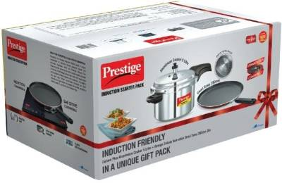 Prestige Induction Starter Pack Deluxe Plus 5 L Pressure Cooker