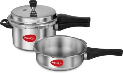 Pigeon Calida 5 L, 3.5 L Pressure Cooker & Pressure Pan with Induction Bottom(Aluminium)