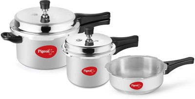 Pigeon 5 L, 3.5 L, 3 L Pressure Cooker & Pressure Pan with Induction Bottom(Aluminium)