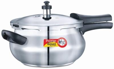 Prestige Delux Alpha SS 4.4 L Pressure Cooker with Induction Bottom(Stainless Steel) at flipkart