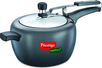 Prestige-20427-Apple-Duo-Plus-Hard-Anodised-5-L-Pressure-Cooker-(Induction-Bottom,Inner-Lid)