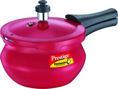 Deluxe-Plus-Baby-Red-Handi-Aluminium-2-L-Pressure-Cooker-(Induction-Bottom,-Outer-Lid)