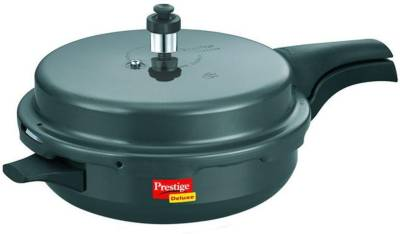 Hard-Anodised-Deluxe-Plus-Junior-Aluminium-3-L-Pressure-Cooker-(Induction-Bottom,-Outer-Lid)
