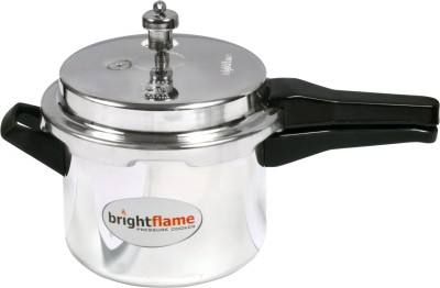 Brightflame Outer Lid Induction Friendly 5 L Pressure Cooker with Induction Bottom(Aluminium)