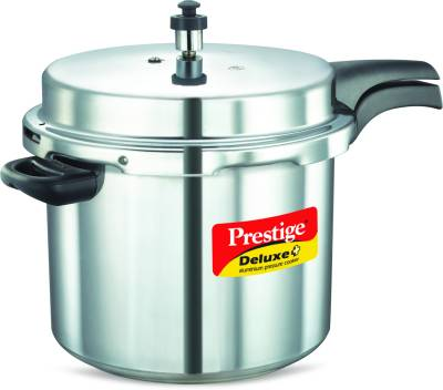 Deluxe-Plus-Aluminium-10-L-Pressure-Cooker-(Induction-Bottom,-Outer-Lid)