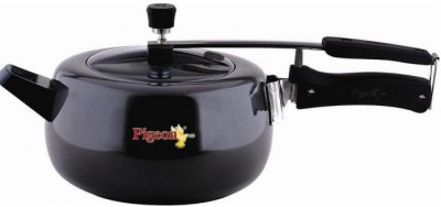 Pigeon Hard Anodized LB Cooker Marvella 3.5 L Pressure Cooker with Induction Bottom(Hard Anodized)