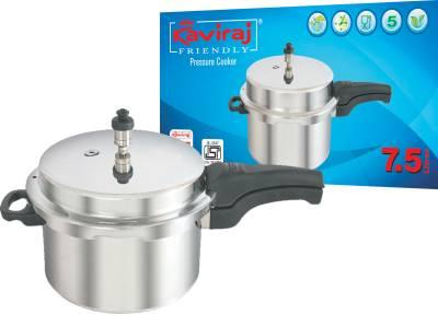 Kaviraj-Kf7.5-01095-Aluminium-7.5-L-Pressure-Cooker-(Outer-Lid)