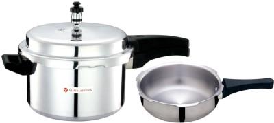 Vijayalakshmi Platina 2 L, 3 L Pressure Cooker & Pressure Pan(Aluminium)