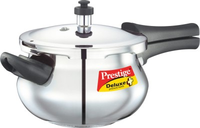 Prestige-SS-Deluxe-Plus-Mini-Stainless-Steel-3.3-L-Pressure-Cooker-(Induction-Bottom,-Outer-Lid)