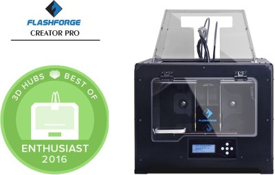 Flashforge Creator Pro Dual Extrusion 3D Printer Multi-function Printer(Black)