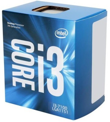 Intel 3.9 GHz LGA 1151 core i 3 7100 Processor(Silver)  available at flipkart for Rs.9799