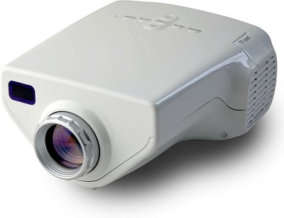 Wonder World ® Mini Home Cinema Theater HD1080P Portable Projector(White)