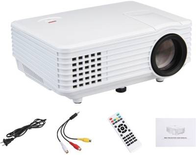 IBS 800 Lumens RD-805 Mini LED TV Smart Lcd Video Home Theater 1080P Movie Cinema Digital Media Player 20000/30000 Hours 5 Inch Black Portable Projector (WHITE, BLACK)