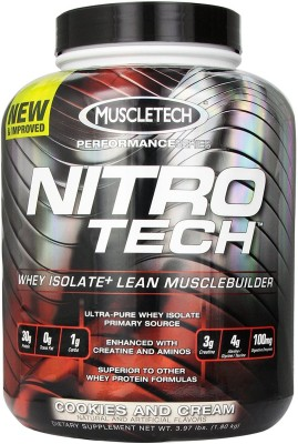 Muscletech Nitrotech Performance Series Whey Protein(1.81 kg, Cookies & Cream)