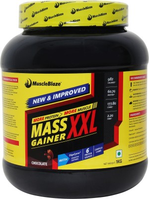 MuscleBlaze Mass Gainer XXL Weight Gainers/Mass Gainers(1 kg, Chocolate)