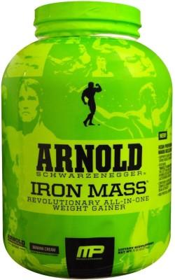 MusclePharm Arnold Schwarzenegger Series Iron - 5 Lbs Mass Gainers(2.27 kg, Banana, Cream)