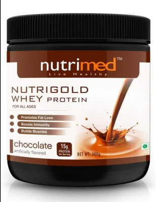 Nutrimed Nutri Gold Whey Protein (300gm / 0.67lbs, Chocolate)