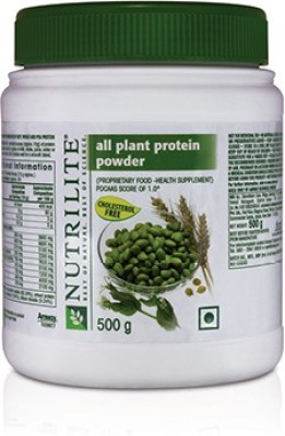 Amway Nutrilite all plant protein powder Plant-Based Protein(500 g, Unflavoured)  available at flipkart for Rs.1415