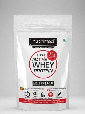 Nutrimed 100% Active Whey Protein (907gm / 2lbs, Unflavoured)
