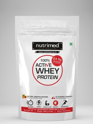 Nutrimed 100% Active Whey Protein (908gm / 2lbs, Strawberry)
