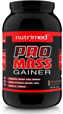 Nutrimed Pro Mass Gainer (1Kg / 2.2lbs, Chocolate)