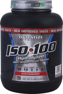 Dymatize Iso 100 Whey Protein,2.27 kg/5 lbs Strawberry