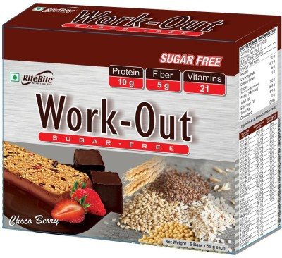 RiteBite Work out (Sugarfree) Protein Bars(300 g, Choco Berry)
