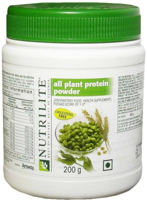 Amway Nutrilite all plant protein powder Plant-Based Protein(200 g, Unflavoured)  available at flipkart for Rs.491