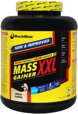 MuscleBlaze Mass Gainer XXL Weight Gainers/Mass Gainers(3 kg, Vanilla)