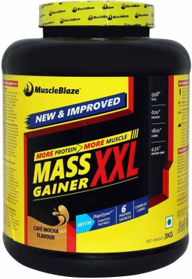 MuscleBlaze Mass Gainer XXL Weight Gainers/Mass Gainers(3 kg, Cafe Mocha)