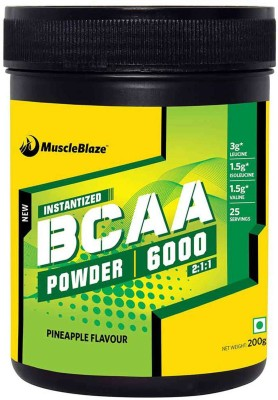 MuscleBlaze Instantized BCAA Powder 6000 Amino Acid supplement BCAA(200 g, Pineapple)  available at flipkart for Rs.1010