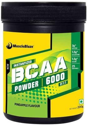 MuscleBlaze Instantized BCAA Powder 6000 Amino Acid supplement BCAA(200 g, Pineapple)