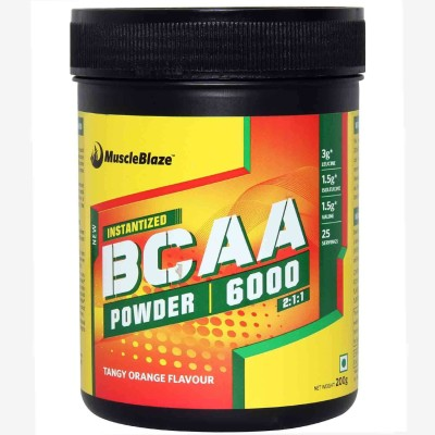 MuscleBlaze Instantized BCAA Powder 6000 Amino Acid supplement BCAA(200 g, Tangy Orange)  available at flipkart for Rs.1010