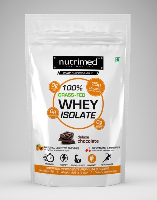 Nutrimed Nutrimed 100% Grass-fed Whey Isolate with Enzymes, Multivitamins (907gm / 2lbs, Vanilla)