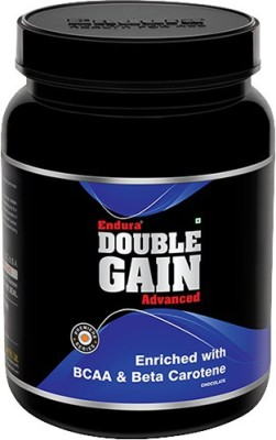 Endura Double Gain Weight Gainers/Mass Gainers(1 kg, Chocolate)  available at flipkart for Rs.949