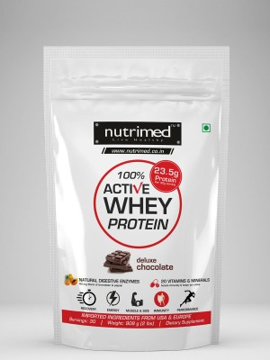 Nutrimed 100% Active Whey Protein (907gm, Chocolate)