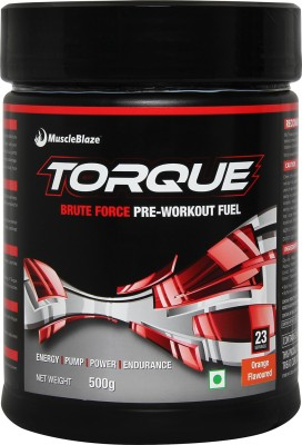 MuscleBlaze Torque Pre-Workout (1.1 lb), 500 gm  Orange