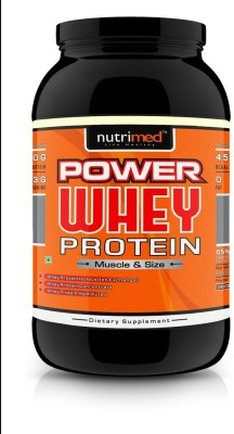 Nutrimed Power Whey Protein Supplement (908gm, Chocolate)