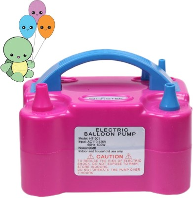 Zephyr Solutions Dual Nozzle Electric Balloon Pump Balloon Pump(Pink)