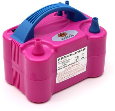 NuLink Electric Portable Dual Nozzle Balloon Blower Pump Inflation Balloon Pump(Pink, Blue) at flipkart