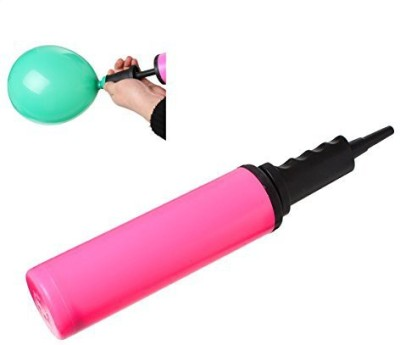 PEPPERLONELY Cylinder Plastic Balloon Pump Inflator Tool Balloon Pump(Pink)