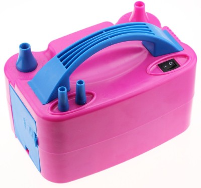 LotFancy Portable Double Nozzles Electric Power Balloon Air Pump Balloon Pump(Blue, Pink) at flipkart