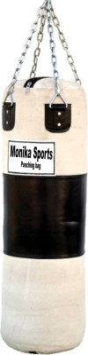 Monika Sports Canvas Material Unfilled Hanging Bag with Hanging Chain Hanging Bag small, 36 kg Monika Sports Boxing Punching Bag