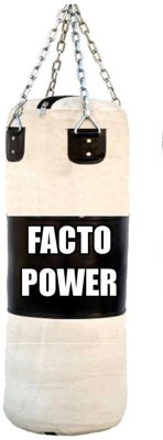FACTO POWER 4 Feet Length BLACK   WHITE Color Unfilled   CANVAS Hanging Bag Heavy, 1 kg