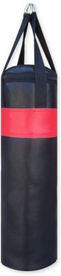 FACTO POWER 1.5 FEET LONG BLACK AND RED COLOR UN FILLED SRF ECONOMIC WITH STRAPS Hanging Bag LONG, 18 kg