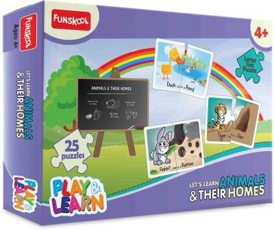 Funskool Play & Learn - Animals & Their Homes(25 Pieces)